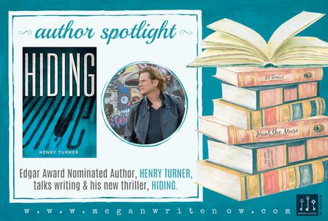 Author Spotlight: Henry Turner talks Hiding