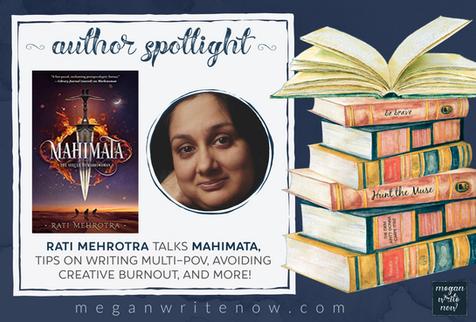Author Spotlight: Rati Mehrotra talks Mahimata (Asiana #2)