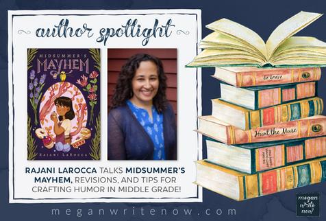 Author Spotlight: Rajani LaRocca talks Midsummer's Mayhem