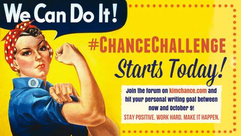 Accountability + Your Writing Goal = #ChanceChallenge