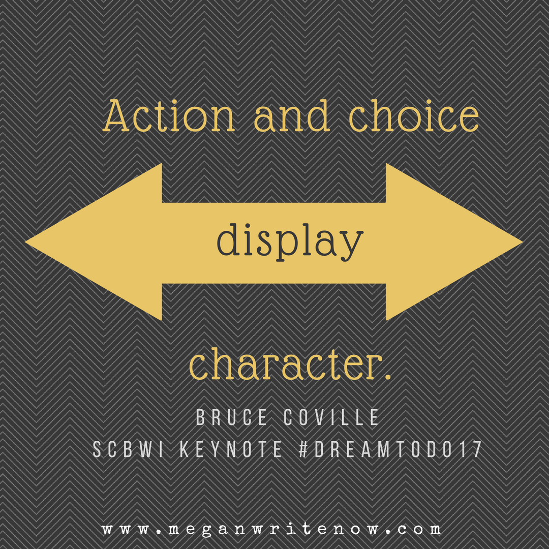 Action and choice display charachter.