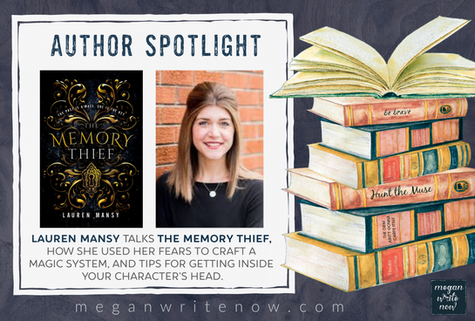 Author Spotlight: Lauren Mansy talks THE MEMORY THIEF