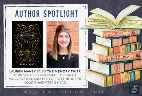 Author Spotlight: Lauren Mansy talks THE MEMORY THIEF