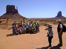 Japanese Tour Group Photo Monument Valley