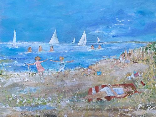 Joies de la plage aux Salins