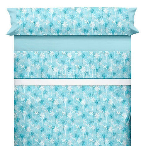 BED SHEET SET CANETE   SAMIRA 20 BLUE