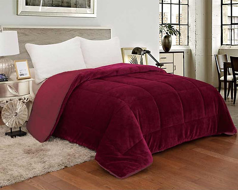 SHERPA QUILT DOUBLE-FACED | RASPBERRY
