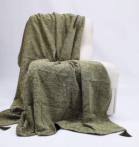 SOFA THROW GREEN 180x230cm