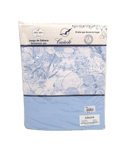 BED SHEET SET CANETE | PUSAN 20 BLUE