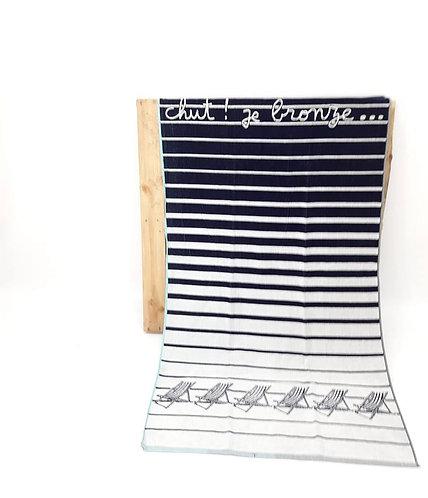 BEACH TOWEL | BLUE STRIPES