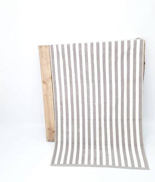 BEACH TOWEL | BEIGE STRIPES