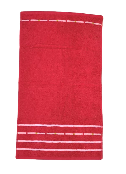 TOWEL HC | STRIPES | RED | 50X100CM
