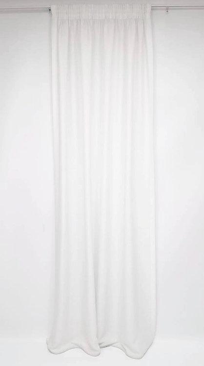 ΚΟΥΡΤΙΝΑ AOSTA WHITE ΡΑΜΜΕΝΗ | WIDTH 450cm