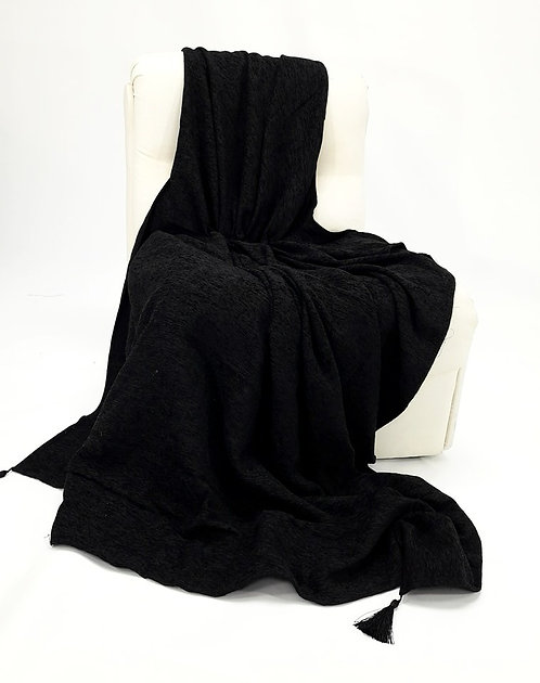 SOFA THROW BLACK 140x180cm