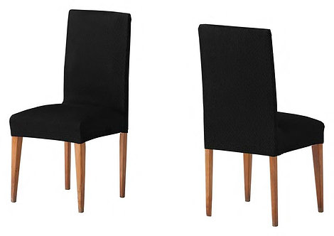 ELASTIC COVER - CHAIR | TWO PIECES | BLACK