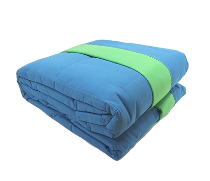 BEDSPREAD DOUBLEFACE | LIGHT BLUE - GREEN