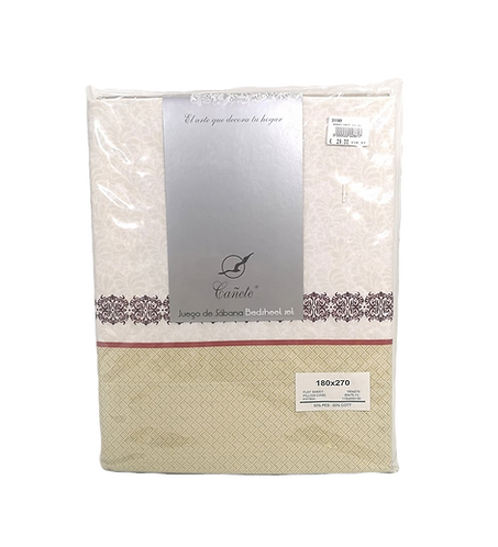BED SHEET SET CANETE | NAMUR 58 ALMENDRA