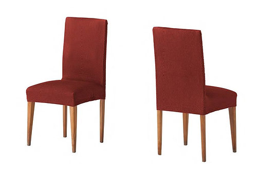 ELASTIC COVER - CHAIR | TWO PIECES | CORAL ORANGE