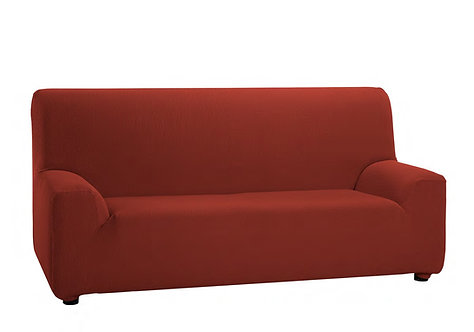 ELASTIC SOFA COVER 3-SEATS | CORAL ORANGE