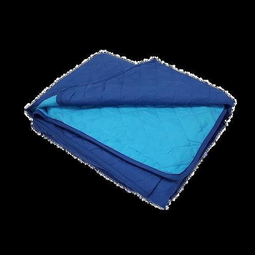 BEDSPREAD MICRO BLUE/TURQUOISE | 260x245cm