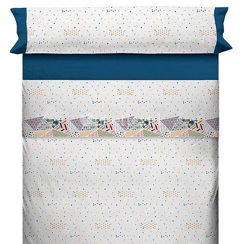 BED SHEET SET CANETE | TIKOS 20 BLUE