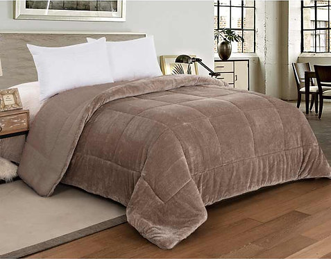 SHERPA QUILT DOUBLE-FACED | LINEN GREY
