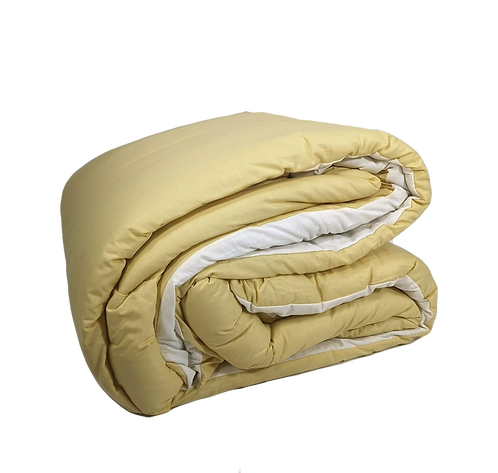 QUILT DOUBLEFACE | YELLOW/IVORY