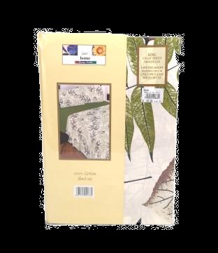 BED SHEET SET HC | LEAVES GREEN