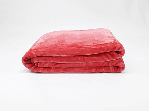 BLANKET PINK/RED 220x240cm