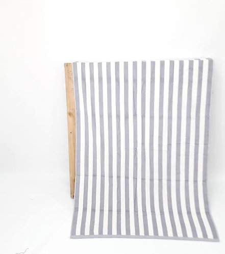 BEACH TOWEL | GREY STRIPES