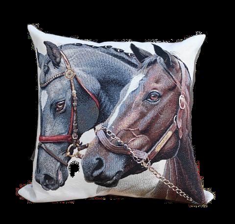 CUSHION HORSES | 45x45cm
