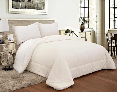 SHERPA QUILT DOUBLE-FACED | IVORY