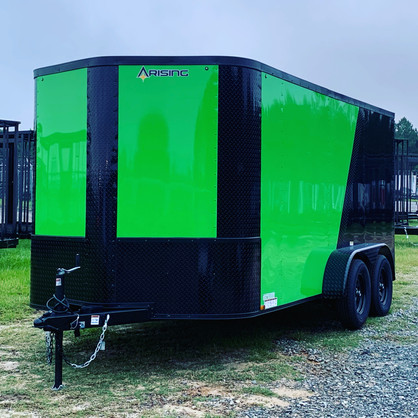 Two-tone in Electric Green / Black