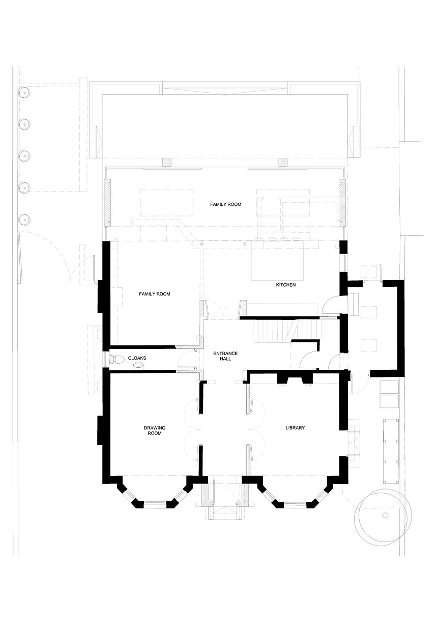 floor plan north oxford extension drawing