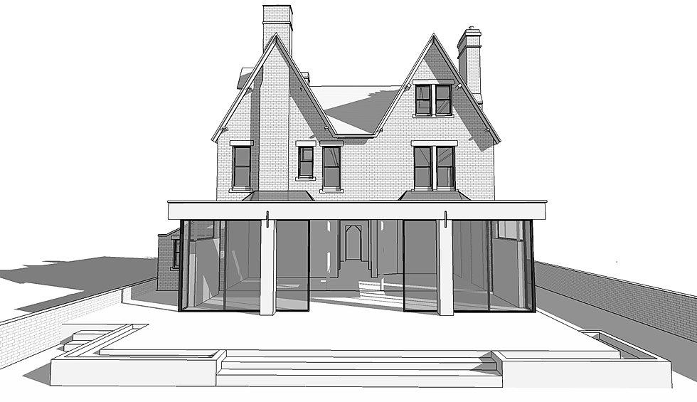 north oxford extension 3d model render