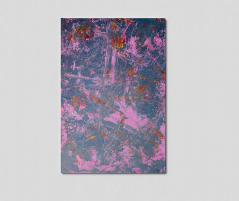 """24"""" H x 36"""" W  Acrylic on wood panel."""