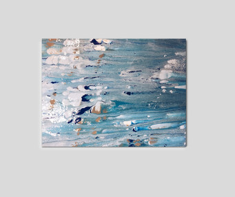 "12"" H x 18"" W  Acrylic on canvas."