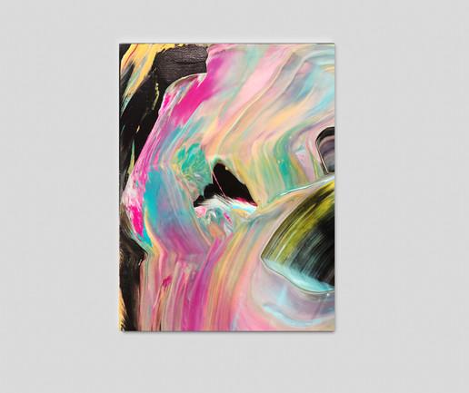 "12"" H x 12"" W  Acrylic on canvas."