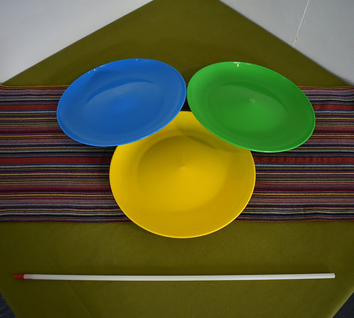 Spinning plate with stick
