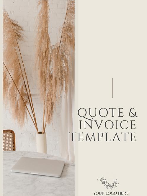 Quote & Invoice Template