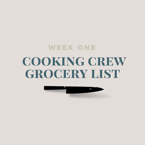 Week One Grocery List