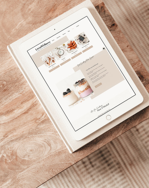 Portfolio - Livia Wellness Shop Page Des