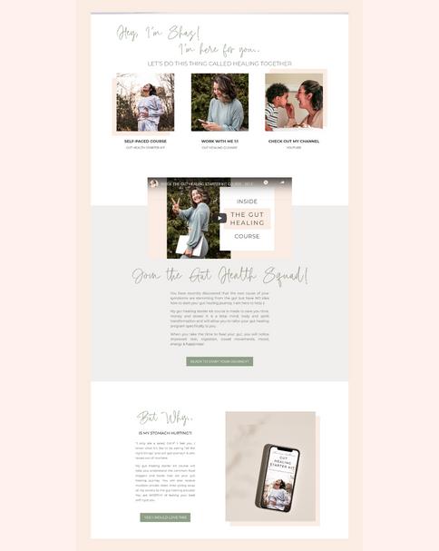Shazness Wellness Website Portfolio Piec