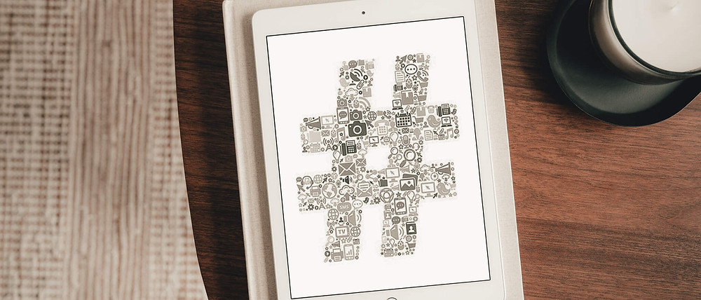 Ipad Mockup with an Hashtag