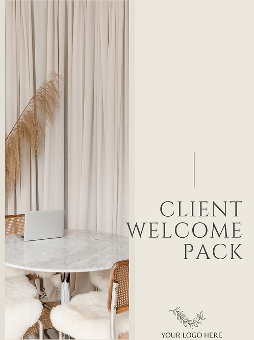 Client Welcome Guide (On-boarding Package)