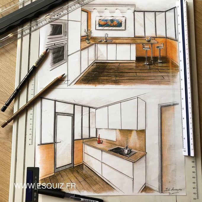 Papier, crayons, feutres, règles et du savoir-faire, voila qu'un projet est né! Vous aimez ?