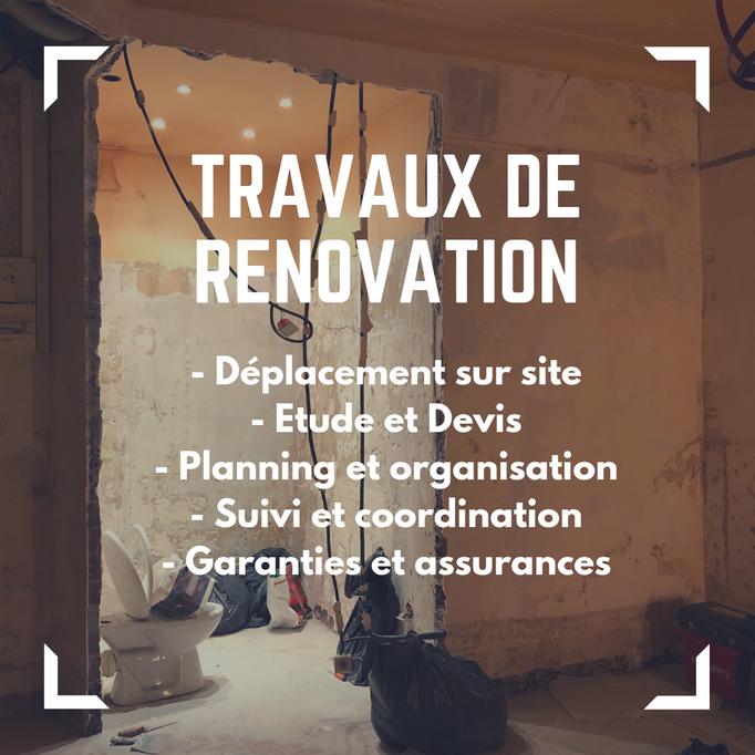 Vous avez un projet de rénovation d'appartement, d'un studio, bureau, local commercial... contactez