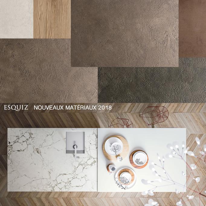 ESQUIZ, Nouveaux matériaux 2018 !