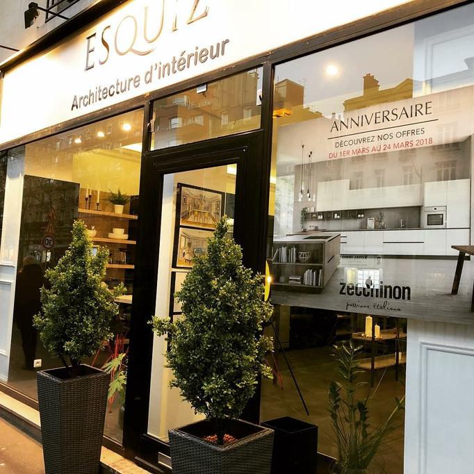 Photo de notre showroom au 136 boulevard du Montparnasse.