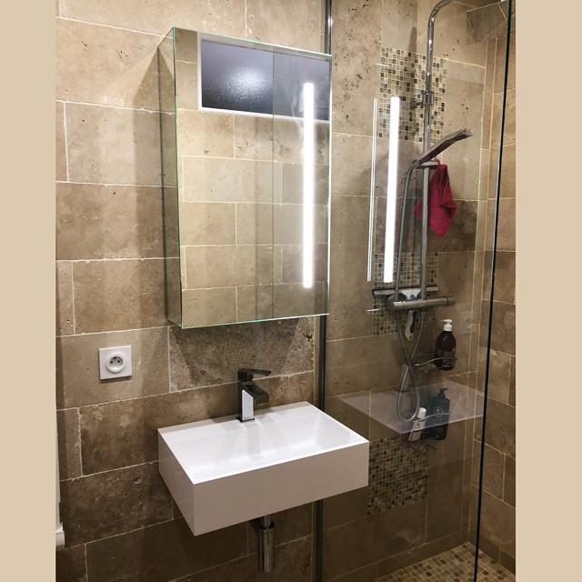 Esquiz, Petite salle-de-bain Paris 75013 meubles Casabath.